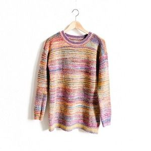 Aerie Colorful Striped Soft Sweater